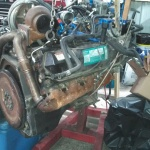 7.3 Ford Powerstroke Motor out of 2000 F350 CCLB going in 2002 Reg Cab F350