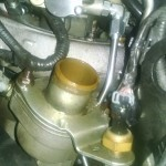 2004 F350 6.0 Powerstroke Regulated return left front fuel line out of the front of head