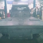 2004 F350 Cab & Chassis Custom Built Flatbed & Headache Rack Diamond Plate On